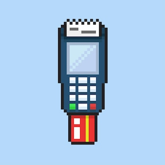 Terminal payment machine with pixel art style