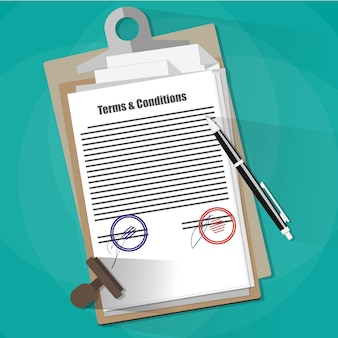 Условия и положения юридическое соглашение.