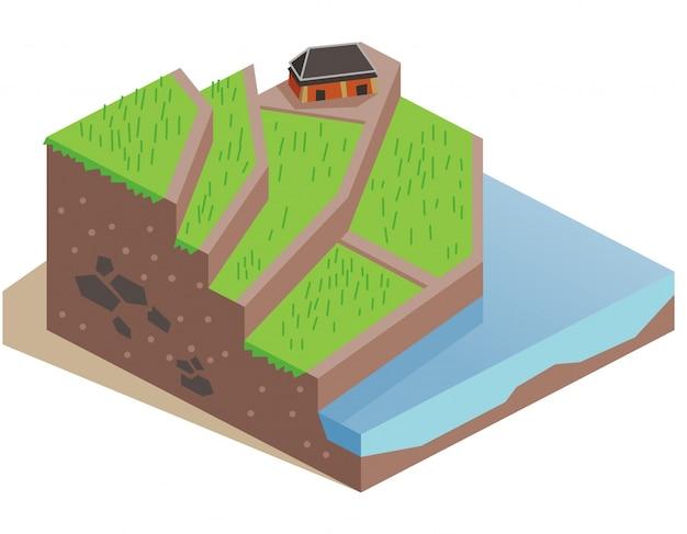 Terrace farming land