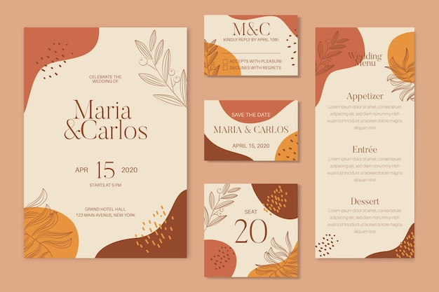 Terracotta wedding stationery