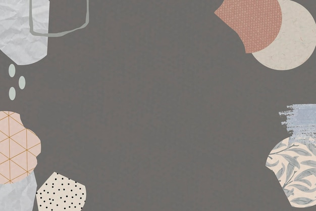 Terrazza pattern on brown background vector