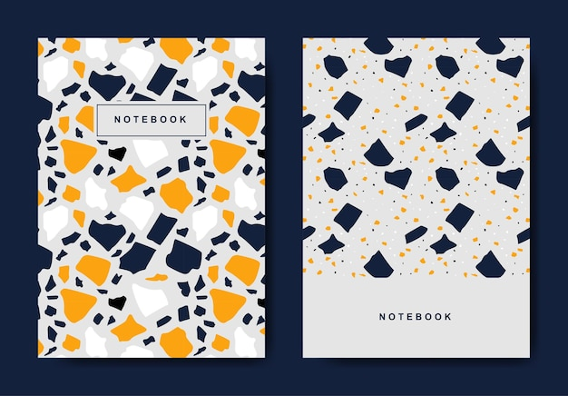 Шаблоны абстрактных обложек terrazzo
