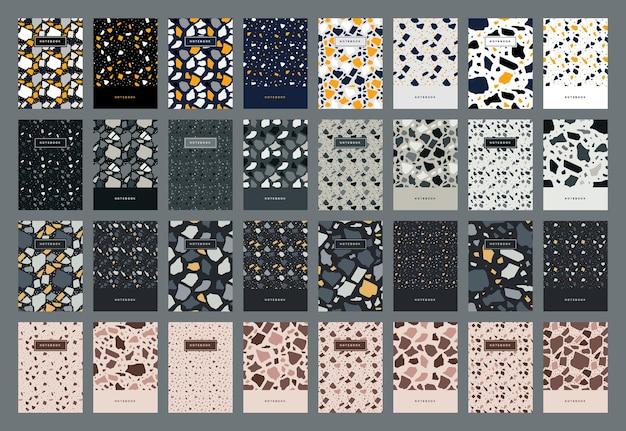 テラゾ抽象表紙テンプレート