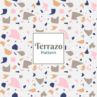 タイルのテラゾ抽象パターン