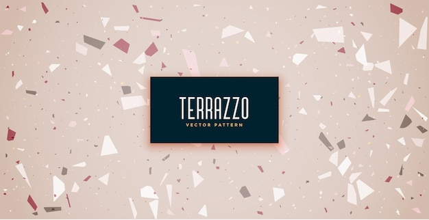 Terrazzo floor tiles seamless pattern