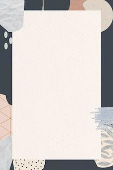 Terrazzo frame on beige background