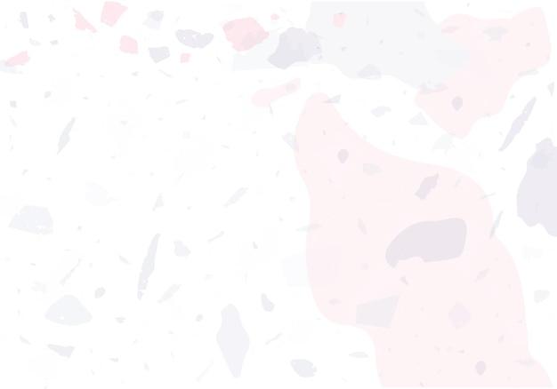 テラゾモダン抽象テンプレート。クラシックなイタリアンフローリングのピンクとグレーの質感。ベネチアンテラゾトレンディなベクトルの背景石、花崗岩、石英、大理石、コンクリートで作られた背景。