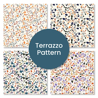Terrazzo pattern set for tile .