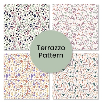Terrazzo pattern set.