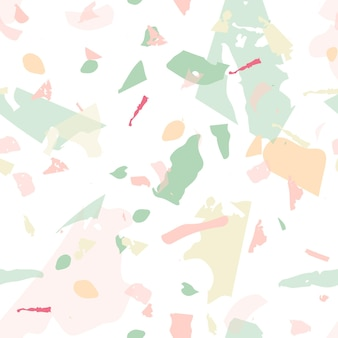 Terrazzo seamless pattern. modern classic flooring texture. background made of natural stones, granite, quartz, marble, concrete. terrazzo seamless pattern in cool colors.