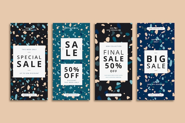 Terrazzo style sale instagram stories collection