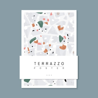 Красочный terrazzo шаблон плакат вектор