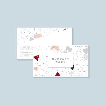 Красочный вектор terrazzo визитная карточка