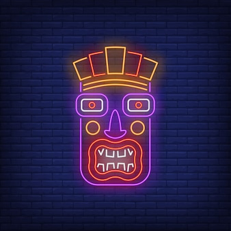 Terrible tiki idol neon sign