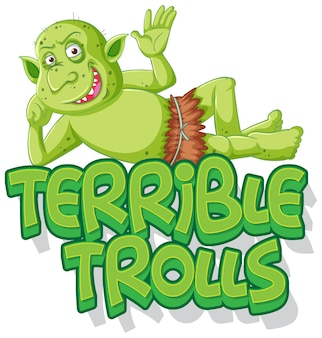 Terrible trolls logo on white background