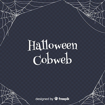 Terrific cobweb halloween background