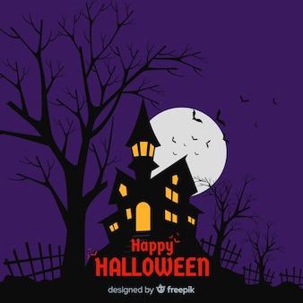 Terrific halloween background with flat design