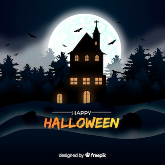 Terrific halloween background with realistic design