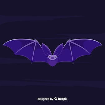 Terrific halloween bat with flat design