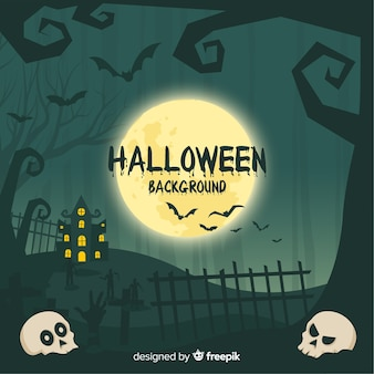 Потрясающий ручной фон хэллоуина