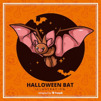Terrific hand drawn halloween bat
