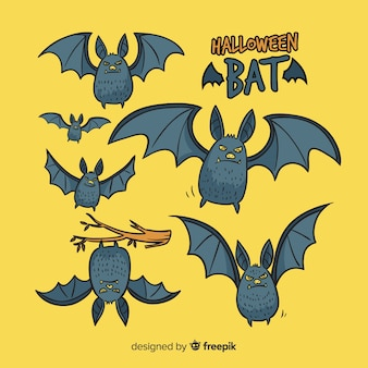 Terrific hand drawn halloween bats