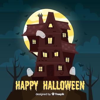 Потрясающий ручной дом с хэллоуином