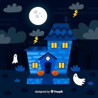 Terrific hand drawn haunted house