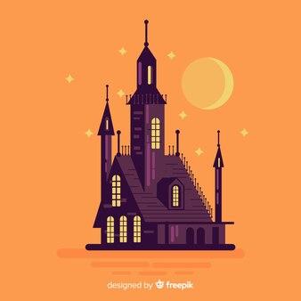 평면 디자인의 멋진 유령의 집