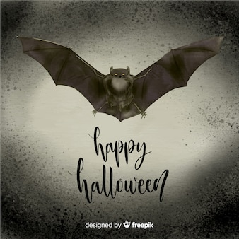 Terrific watercolor halloween bat