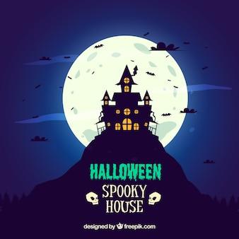 Terrifying haunted house background