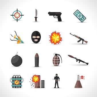 Набор иконок терроризма