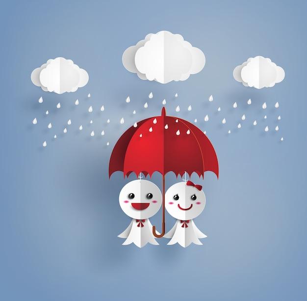 Японская кукла бумаги против дождя, teruterubozu