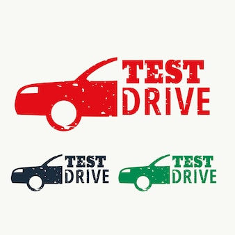 Test drive sign stamp