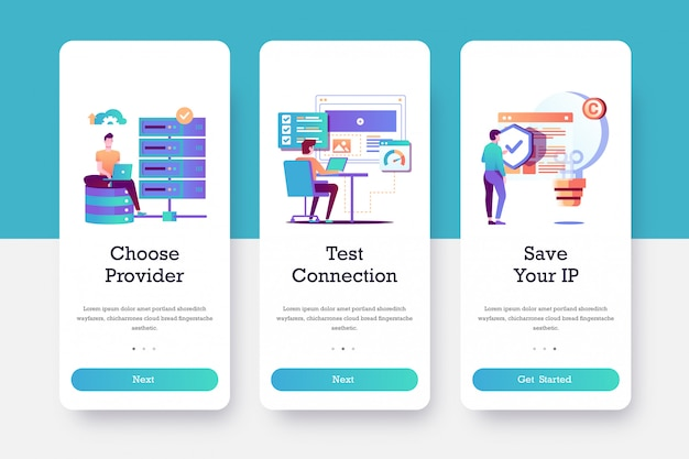 Test provider onboarding page