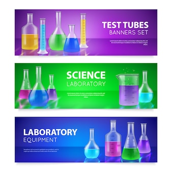 Test-tubes banners