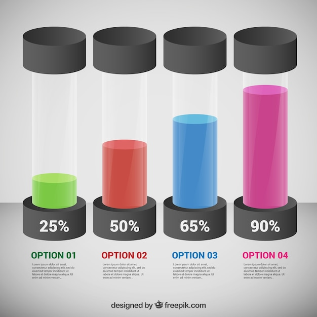 Test tubes infographic