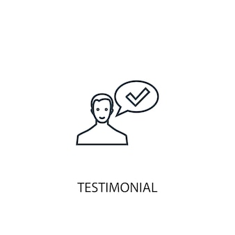 Testimonial concept line icon. simple element illustration. testimonial concept outline symbol design. can be used for web and mobile ui/ux