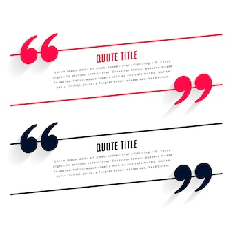 Testimonial or quotes template in two colors