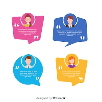 Testimonial with speech bubble design