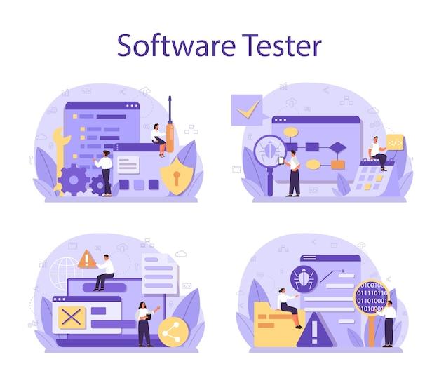 Testing software concept set
