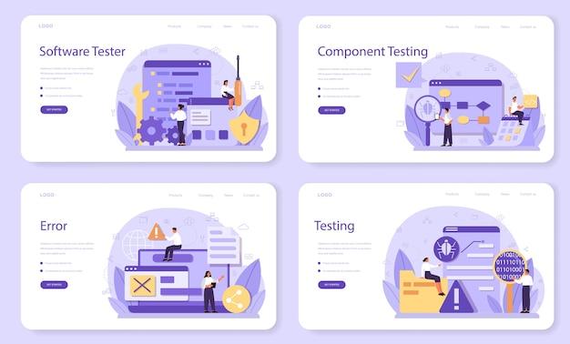 Набор веб-баннера или целевой страницы для тестирования программного обеспечения