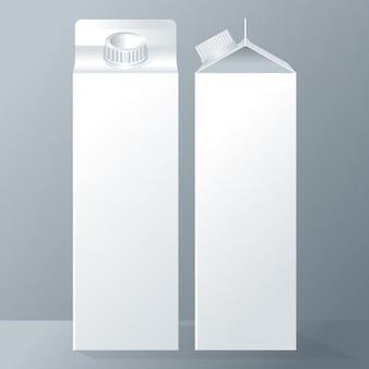 Два молочных tetrabriks