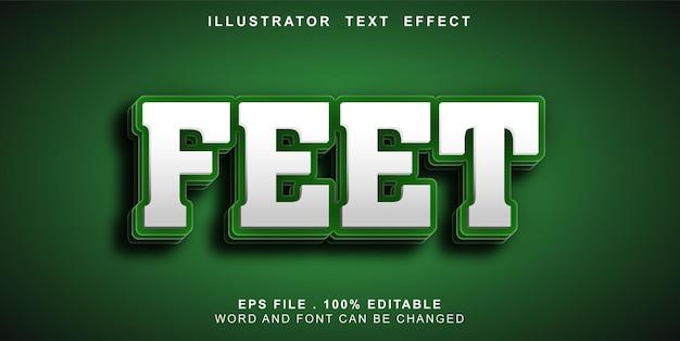 Tex teffect editable feet