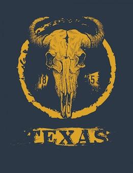 テキサスバッファローtシャツプリントグラフィック
