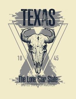 Texas buffalo tee print graphic