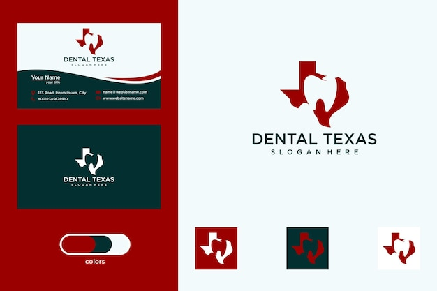 テキサス歯科ロゴデザインと名刺