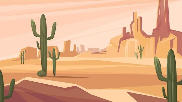 텍사스 사막 풍경. 아름다운 자연 경관.