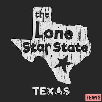 Texas the lone star state vintage