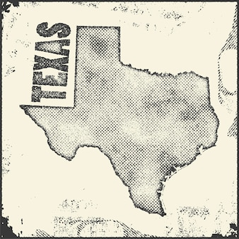 Texas  map stamp.